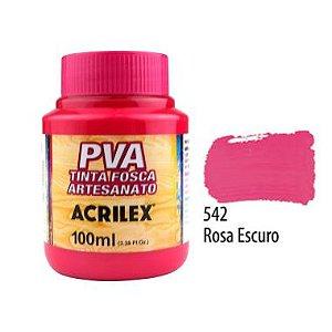 Tinta Plastica PVA Rosa Escuro 542 100Ml