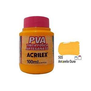 Tinta Plastica PVA Amarelo Ouro 505 100Ml