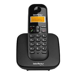 Telefone S/Fio Intelbras Com Identificador TS3110 Preto