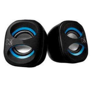 Caixa de Som Maxprint Sound Mix USB 2.0 3W Preta e Azul
