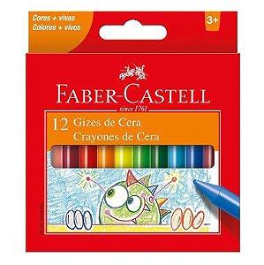 Giz de Cera Faber Castell Fino C/12 Cores