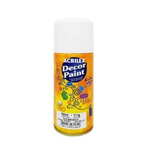Spray Decor Paint Acrilex Branca 519 150ML