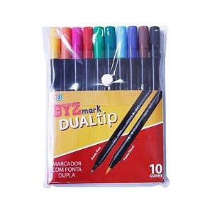 Caneta Brush Bismark DUALtip C/10 Cores