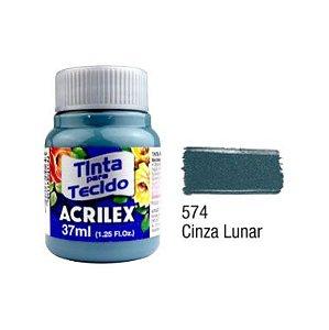 Tinta P/Tecido Fosca Acrilex 37ML Cinza Lunar 574
