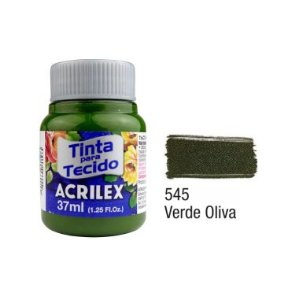 Tinta P/Tecido Fosca Acrilex 37ML Verde Oliva 545