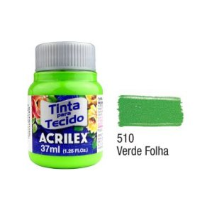 Tinta P/Tecido Fosca Acrilex 37ML Verde Folhas 510