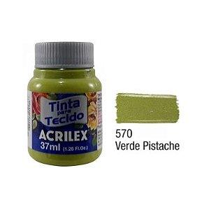 Tinta P/Tecido Fosca Acrilex 37ML Verde Pistache 570