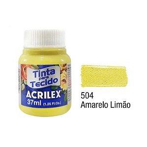 Tinta P/Tecido Fosca Acrilex 37ML Amarelo Limão 504
