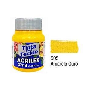 Tinta P/Tecido Fosca Acrilex 37ML Amarelo Ouro 505