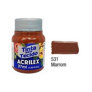 Tinta P/Tecido Fosca Acrilex 37ML Marrom 531