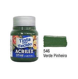 Tinta P/Tecido Fosca Acrilex 37ML Verde Pinheiro 546