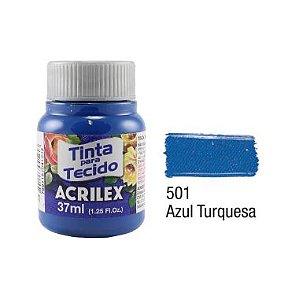 Tinta P/Tecido Fosca Acrilex 37ML Azul Turquesa 501