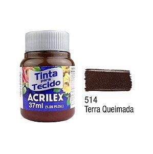 Tinta P/Tecido Fosca Acrilex 37ML Terra Queimada 514