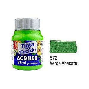 Tinta P/Tecido Fosca Acrilex 37ML Verde Abacate 572
