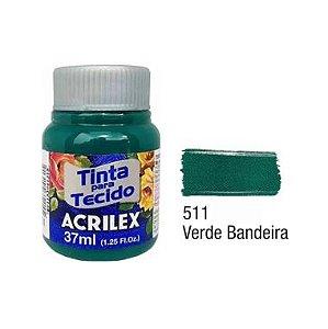 Tinta P/Tecido Fosca Acrilex 37ML Verde Bandeira 511