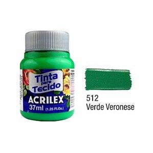 Tinta P/Tecido Fosca Acrilex 37ML Verde Veronense 512