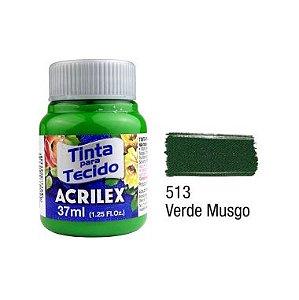 Tinta P/Tecido Fosca Acrilex 37ML Verde Musgo 513