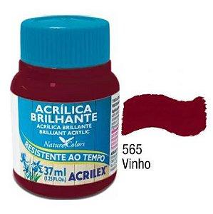 Tinta Acrílica Brilhante Acrilex 37ML Vinho 565
