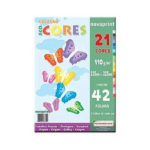 Bloco Criativo 32X23 Eco Cores 110G C/21 Cores 42F
