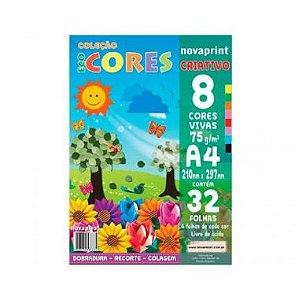 Bloco Criativo A4 Eco Cores 75G C/8 Cores 32F