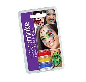 Pintura Facial Color Make C/3 Cores Sortidas