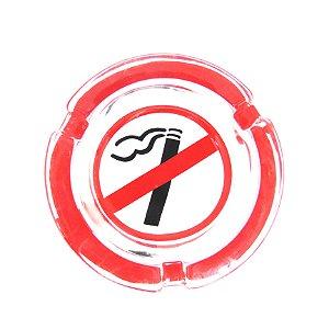 "Cinzeiro de Vidro ""Please, Smoke"" - 8,2cm"
