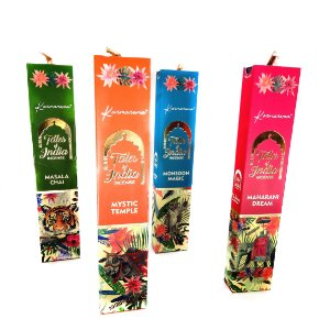 "Kit c/ 4 Incensos Massala Premium ""Tales Of India"" - 4 Aromas Diferentes"