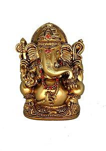Ganesh Dourado c/ Strass - 15cm
