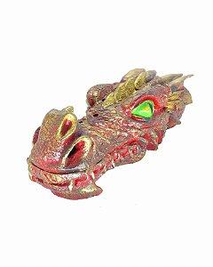 Incensário Cabeça de Dragão - Vermelho