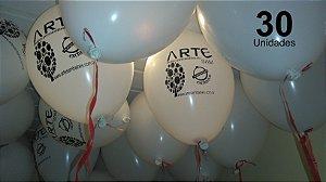 30 Balões em latex 9 polegadas personalizados da forma que desejar. Com sua logomarca ou o tema de sua festa
