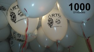 1000 Balões em latex 9 polegadas personalizados com o layout que desejar. Sua logomarca ou o tema de sua festa