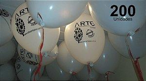 200 Balões em latex 9 polegadas personalizados da forma que desejar