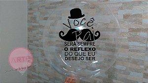 Balão bubble personalizado com gás hélio para aniversário