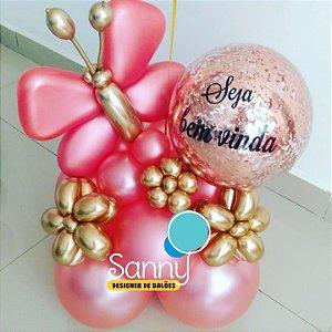Kit festa Balão bubble personalizado com gás hélio