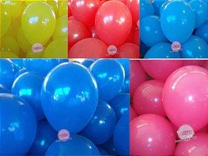 50 balões em cores primárias a escolher e personalizados com 9 polegadas.