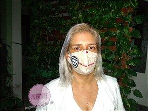 Máscara de proteção em tricoline Mista Gruyere Bege