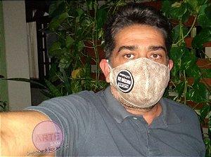 Máscara de proteção em tricoline estampa poeirinha