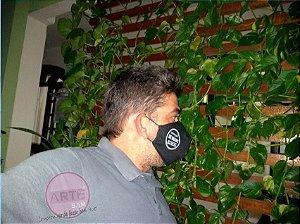 Máscara de proteção em tricoline preto