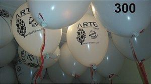 300 balões de latex 9 polegadas personalizados