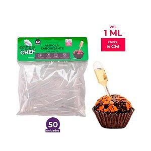 Ampola Saborizante Cilindro 1ml Prime Chef - 50und