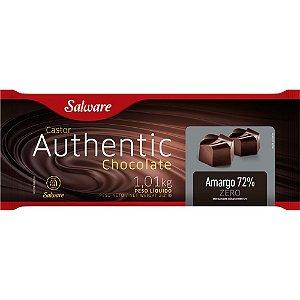 CHOCOLATE AUTHENTIC ZERO AÇÚCAR, AMARGO 72% 1,01KG - SALWARE