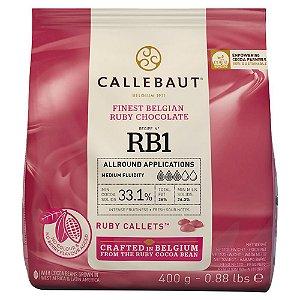 CHOCOLATE RUBI 33,1% CACAU GOTAS 400g - CALLEBAUT