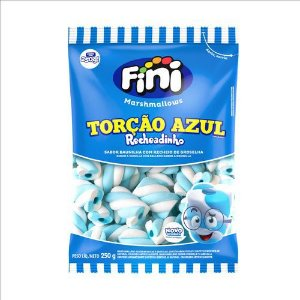 MARSHMALLOW RECHEADO TORÇÃO AZUL 250g - FINI