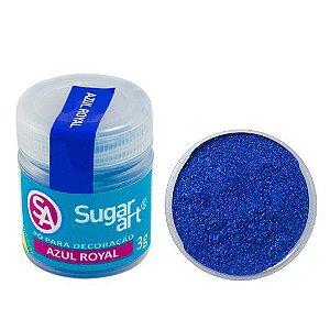 Pó Sugar Art Decoração Azul Royal 3g