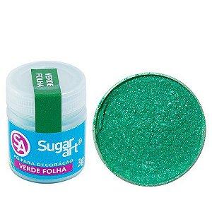Pó Sugar Art Decoração Verde Folha 3g