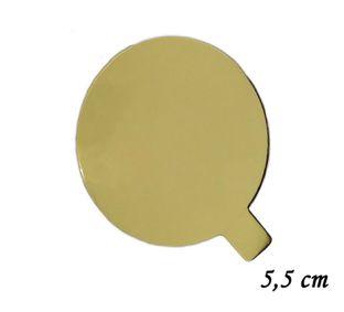 Base Laminada Dourada 8cm - 30 unid