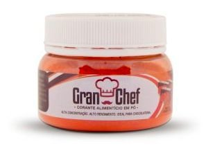 Corante para Chocolate Hidrossolúvel Laranja Gran Chef 5g
