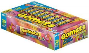 Goma Tubo Gomets Frutas Sortidas Dori 30x32g