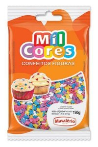 Confeito Borboleta Mil Cores 150g