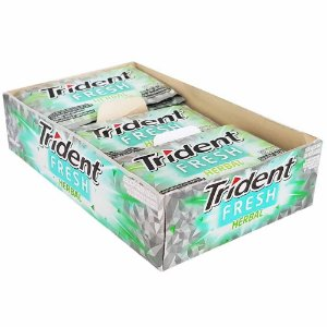 Chiclete Trident Herbal Fresh Mondelez 5S 168g